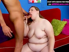 Cum On Bbw Face After Sucking Pounding Big  Part 1