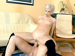 Slut in sexy black boots fucked in the vagina