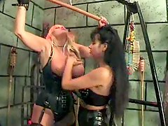 Mistress ties her tasty slut in dungeon