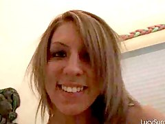 Chick does a slow tease on her webcam