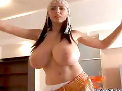 Arab girl with huge natural tits showing