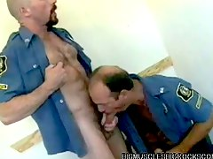 Cock sucking bodybuilding cops