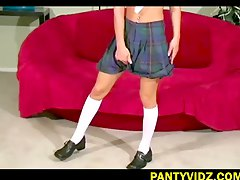 NASTY STRIPPED SWEET SCHOOL GIRL
