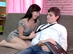 teen couple gets down to business