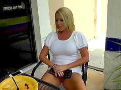 smoking hot blonde milf smoking cigarette Tara Star