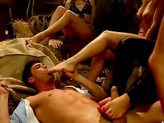 country boy enjoying some feet action Lorelei Lee