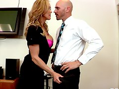 hot boss gets fun with her employees Brandi Love
